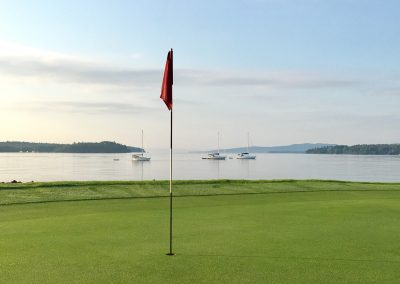 A Beautiful shot of the 5th Green