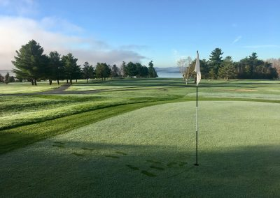 Morning Dew on the 7th Green